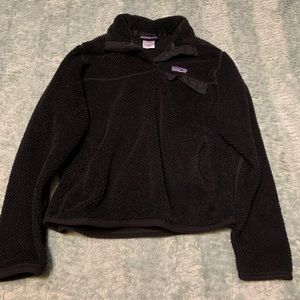 Patagonia Black Quarter Snap Pullover Sweater
